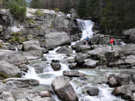 Waterfalls hihg tatras walking