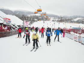 Family Skiing High Tatras Slovakia