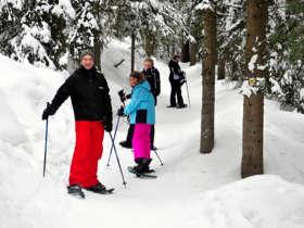 Family Snowshoeing Tatra Mountains