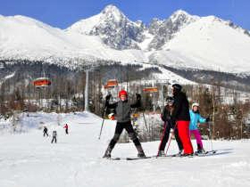 Skiing Tatranska Lomnica Tatra Mountains