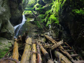 Walking Slovak Paradise Canyons
