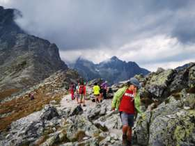 2 Walking Family High Tatras