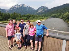 Family Walking Pieniny Tatras Slovakia
