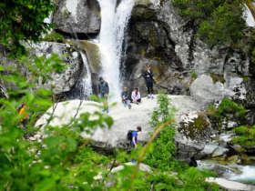 Cold creek waterfall