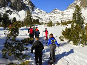 Family Snowshoeing Tatras Slovakia
