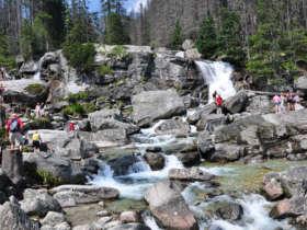 Cold creek waterfalls high tatras