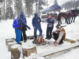 Picnic On Open Fire Winter Zdiar Tatras
