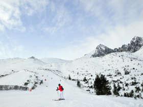 Skiing Skalnate Pleso Tatras Slovakia