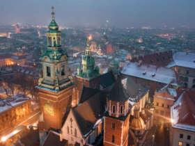 Krakow In Winter Poland