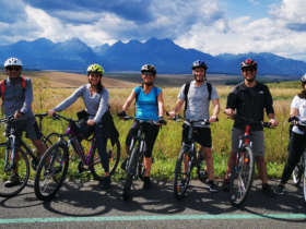 Cycling high tatras