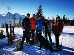Winter Walking Snowshoeing High Tatras