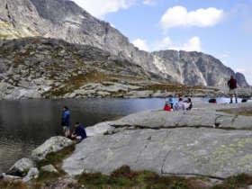 Walking Tatras Mountain Lake